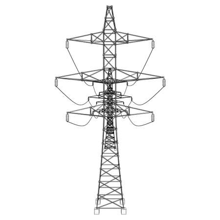 Electric pylons or electric towers concept.