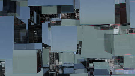 Abstract technology background with glass cubes Standard-Bild - 119840640