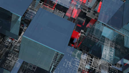 Abstract technology background with glass cubes Standard-Bild - 119840641