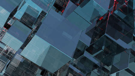 Abstract technology background with glass cubes Standard-Bild - 119840643