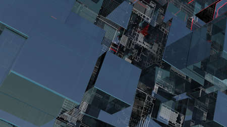 Abstract technology background with glass cubes Standard-Bild - 120084271
