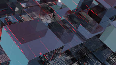 Abstract technology background with glass cubes Standard-Bild - 120084277