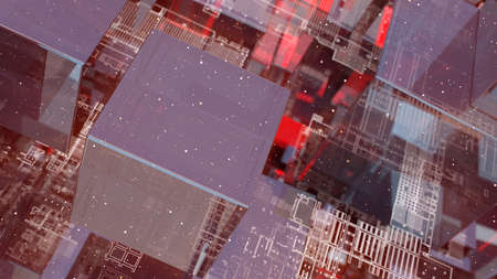 Abstract technology background with glass cubes Standard-Bild - 120410036