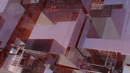 Abstract technology background with glass cubes Standard-Bild - 120410039