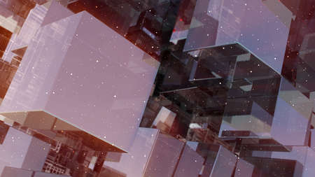 Abstract technology background with glass cubes Standard-Bild - 120410054