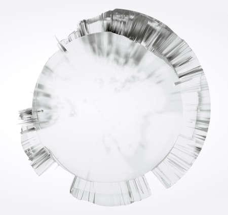 Clear glass Earth on white background Foto de archivo