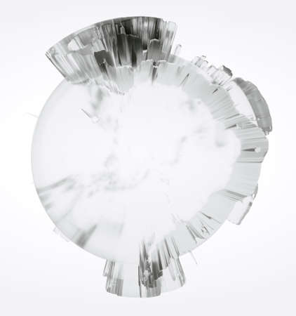 Clear glass Earth on white background Standard-Bild - 120838794