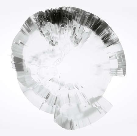 Clear glass Earth on white background Standard-Bild - 120838797