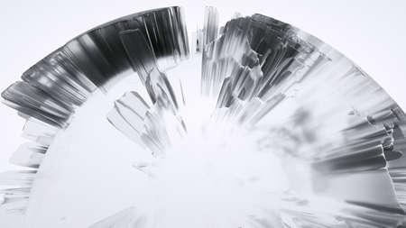 Clear glass Earth on white background Standard-Bild - 120838799