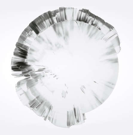 Clear glass Earth on white background Standard-Bild - 120838842