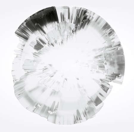Clear glass Earth on white background Standard-Bild - 120838845