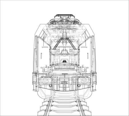 Concepto de tren moderno. Vector