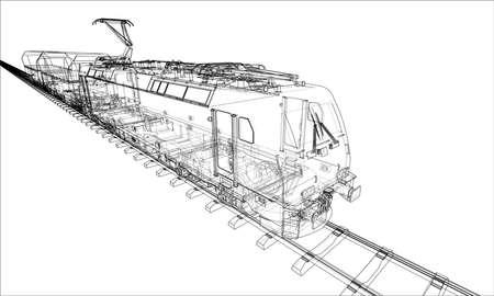 Concepto de tren moderno. Vector Ilustración de vector