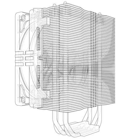 Cpu Coller Concept. Vector Banque d'images - 123037563