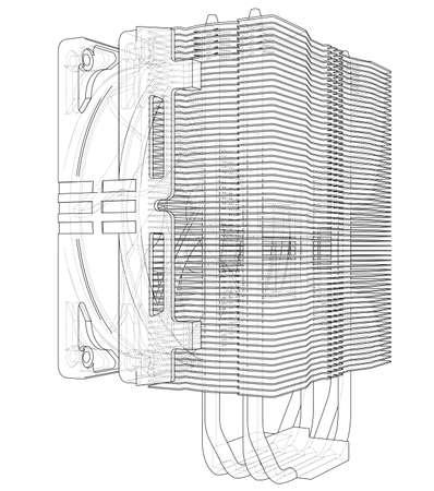 Cpu Coller Concept. Vector Ilustração