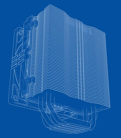 Cpu Coller Concept. Vector Banque d'images - 123037565
