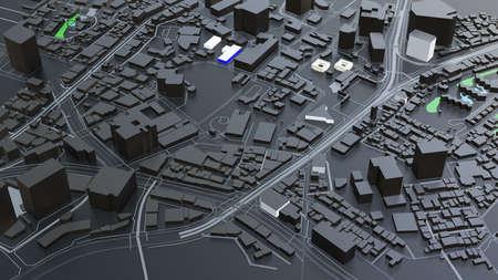 3D futuristic city architecture