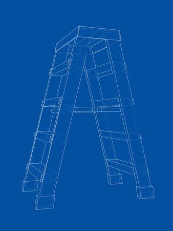 Outline household steps. Vector
