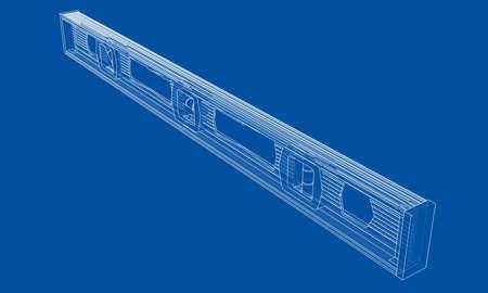 Outline building level. Vector