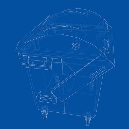 Outline  dustbin vector
