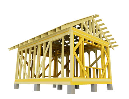 Home Construction, isolated Standard-Bild - 129460944