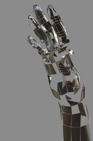 Abstract robot hand. Metal hand Banco de Imagens - 130052519