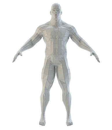 Abstract muscular robot or bodybuilder Banco de Imagens - 130052523