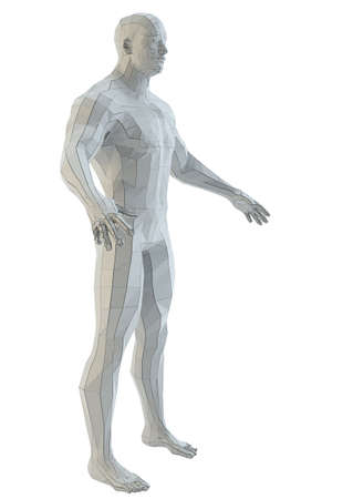 Abstract muscular robot or bodybuilder Banco de Imagens - 130052526