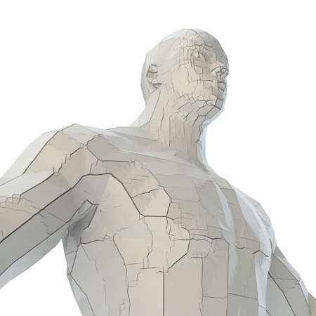 Abstract muscular robot or bodybuilder Banco de Imagens - 130052530