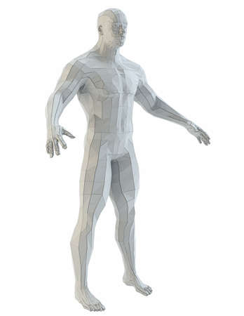 Abstract muscular robot or bodybuilder Banco de Imagens - 130052898