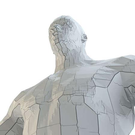 Abstract muscular robot or bodybuilder