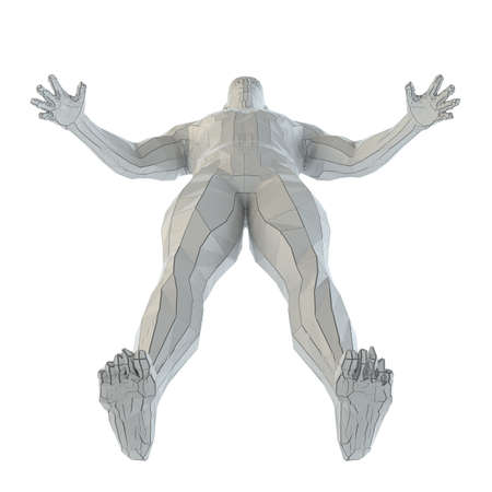 Abstract muscular robot or bodybuilder Stock fotó - 130052908