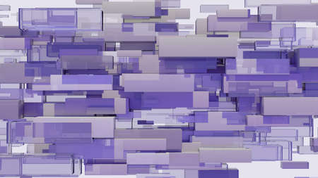 Abstract background of cubes. 3D illustration 写真素材