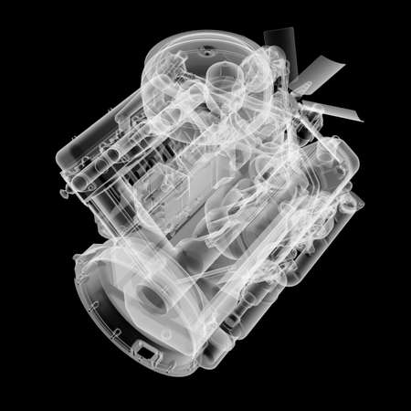 Internal combustion engine X-Ray style
