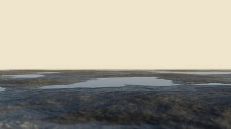 Abstract background. Ground with water against the sky Standard-Bild - 130677313