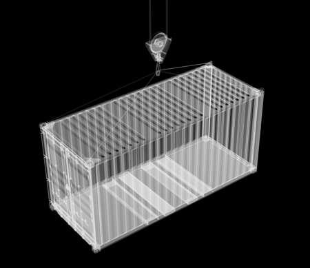 X-ray shipping container Banco de Imagens - 131659152