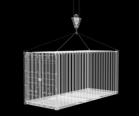 X-ray shipping container Banco de Imagens - 131660229