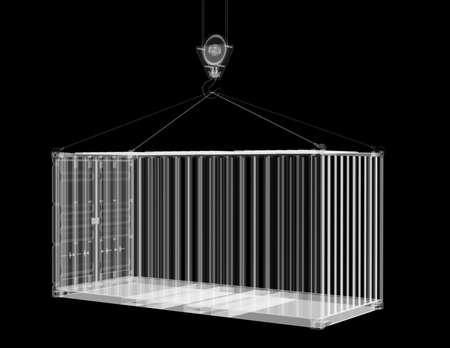 X-ray shipping container Banco de Imagens - 131659155