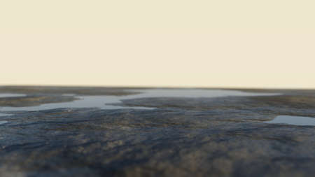 Abstract background. Ground with water against the sky