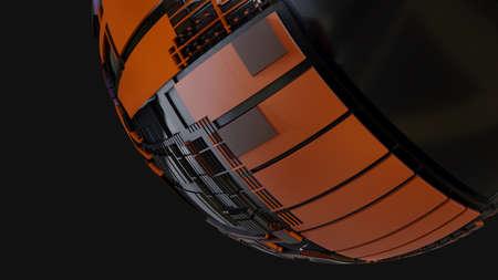 Abstract Hardsurface Sci-Fi Technology Sphere