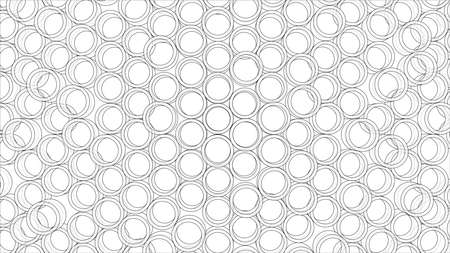 Abstract background of tubes outline. Vector Illustration