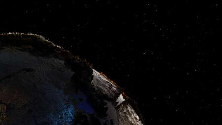 High Quality Planet Earth on Star Field Background Zdjęcie Seryjne