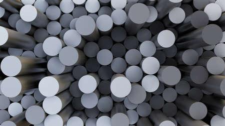 Abstrakte 3D-Darstellung des bunten Zylinderhintergrundes