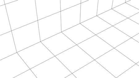 Fondo de vector abstracto, estilo de contorno. Banner para su contenido. Ilustración 3D