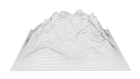 Curve lines in shape of part of mountain range