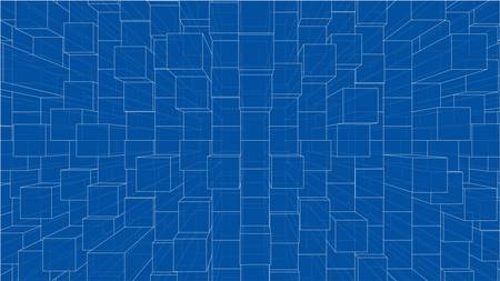 Abstract background of cubes outline. Vector 向量圖像