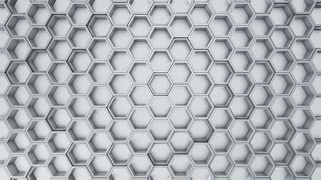 Abstract 3D illustration of hexagons background 스톡 콘텐츠