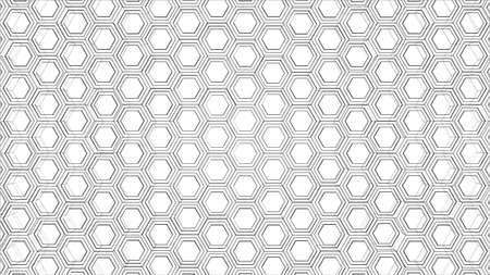Abstract background of hexagons outline. Vector