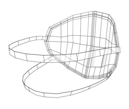Medical surgical mask. Blueprint style. Vector