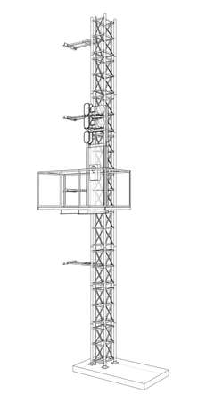 Mast lifts outline. Vector